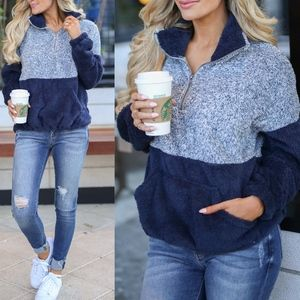 GEORGIA Fuzzy Sweater - NAVY